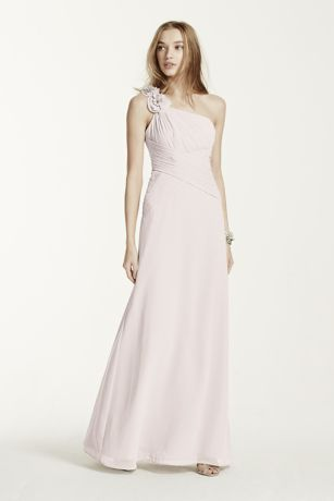 One Shoulder Chiffon Bridesmaid Dresses