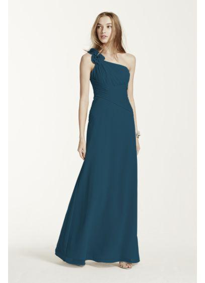 Long Red David's Bridal Bridesmaid Dress