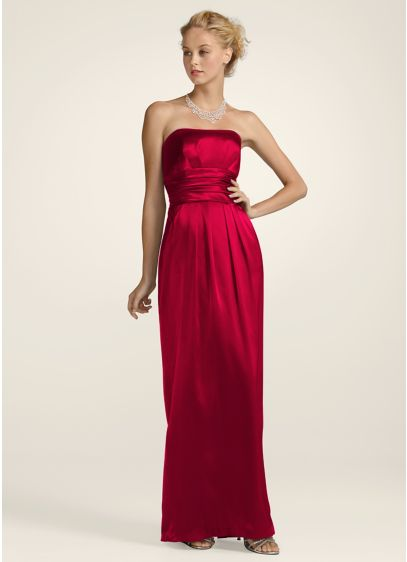 Long Sheath Strapless Dress - David's Bridal