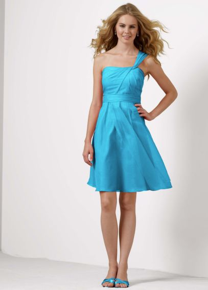 One Shoulder Organza Dress with Full Skirt F14831