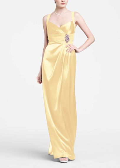 Sleeveless Charmuese Gown with Open Back F15034