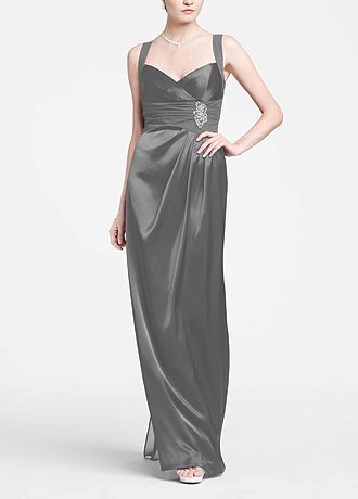 Sleeveless Charmuese Gown with Open Back