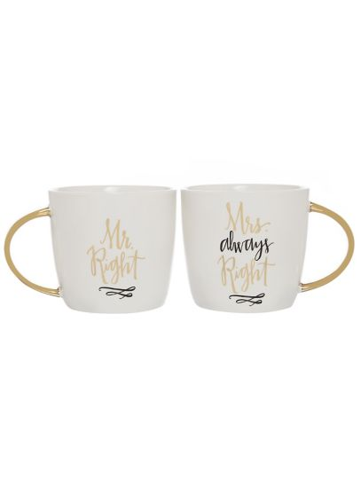 Mr Right and Mrs Always Right Mugs Set of 2 F150405