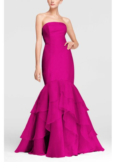 Strapless Fit and Flare Organza Dress F15342