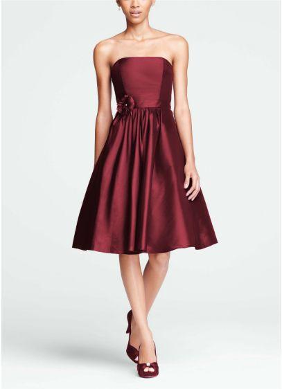 Short A-Line Strapless Dress - David's Bridal