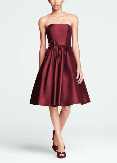 Strapless Taffeta Dress with Full Skirt F15410