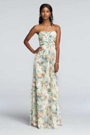 Flowered Bridesmaid Dress