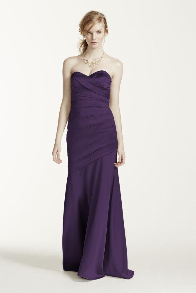 Vestido Largo Sin Breteles estiramiento raso estilo F15586 | eBay