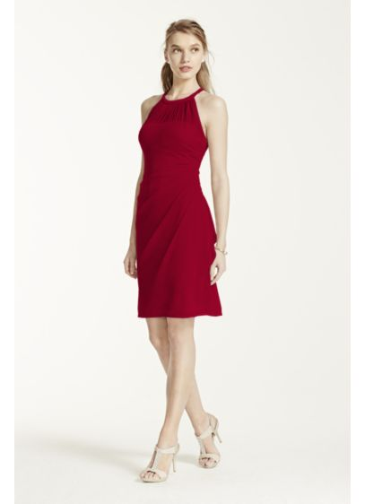 Short Sheath Halter Cocktail and Party Dress -