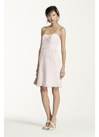 Short Purple Soft & Flowy David's Bridal Bridesmaid Dress