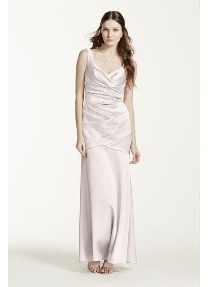 Pink Structured David's Bridal Bridesmaid Dress