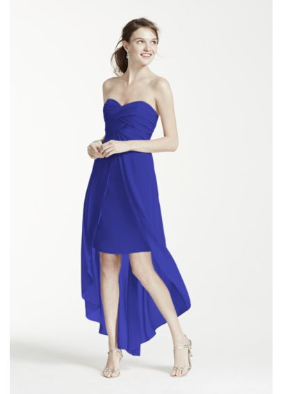 Strapless High Low Dress with Front Detail F15678