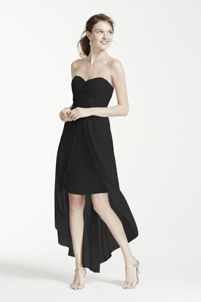 Strapless High Low Dress With Split Front Detail Style F15678 Ebay