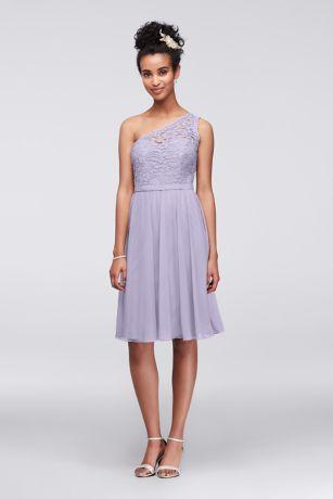 Short one shoulder contrast corded dress