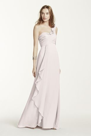 Long One Shoulder Chiffon Dress