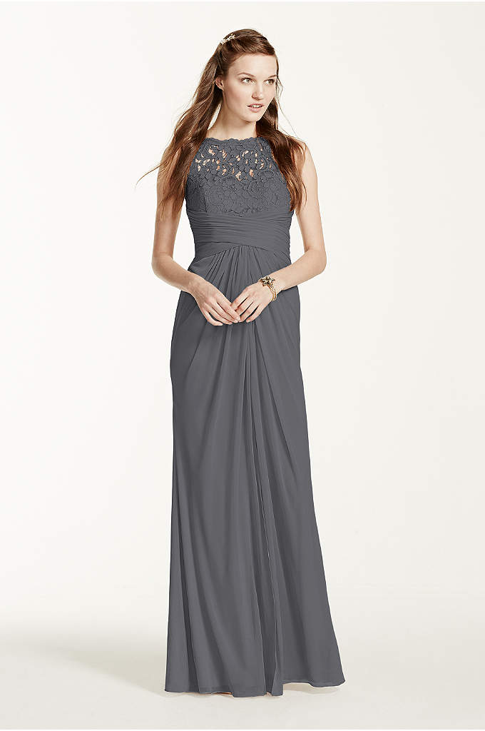 Sleeveless Allover Sequined Lace Dress - Davids Bridal - photo #28