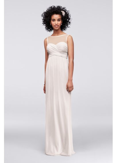 Long Mesh Tank Dress with Illusion Neckline F15927