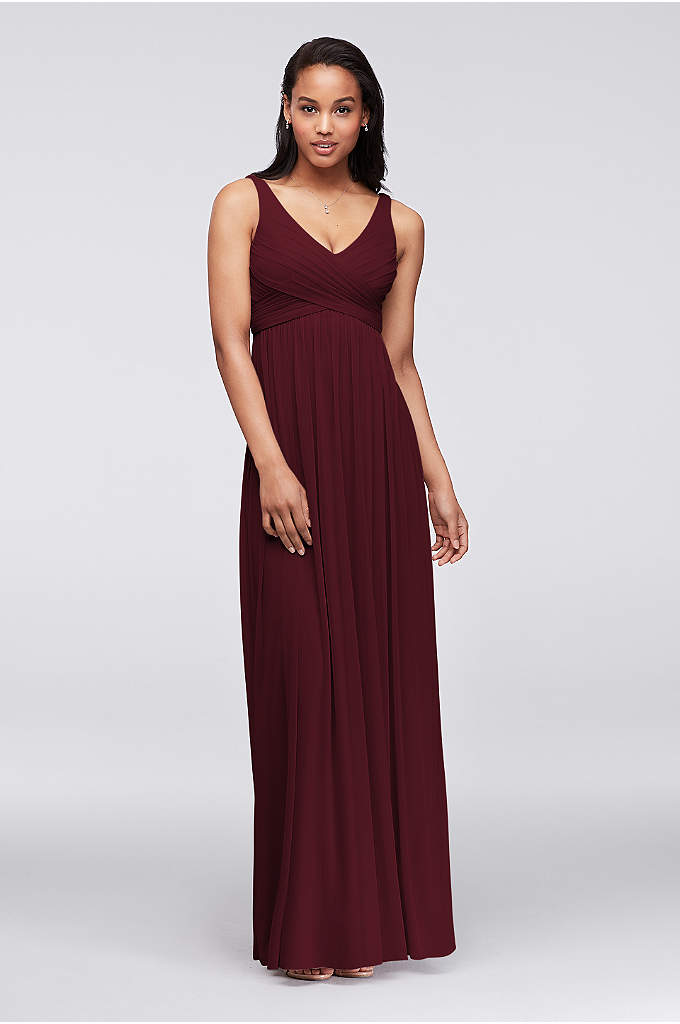 Long Mesh Dress with Cowl Back Detail - A long and breezy dress that will flatter