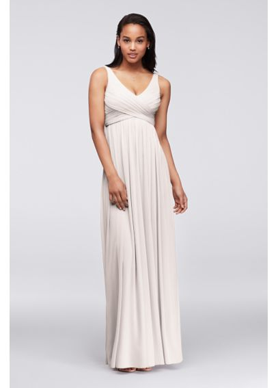 Long Dress with Mesh and Swooping Cowl Back Detail F15933