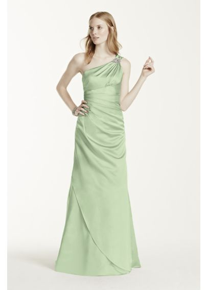 One Shoulder Bridesmaid Dress with Details F15940