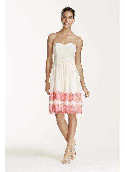 Short Brown Soft & Flowy David's Bridal Bridesmaid Dress