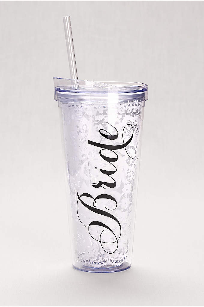 Bride Lace Tumbler - A useful gift for a newly engaged bride-to-be,