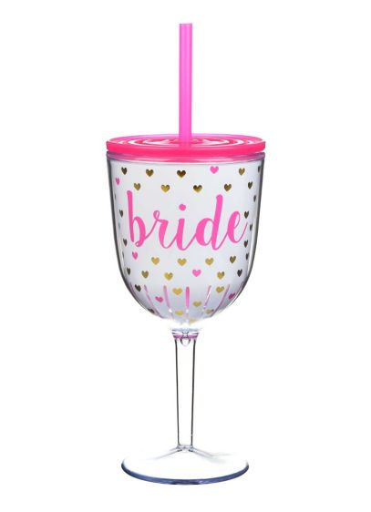 Pink (Bride Hearts Wine Glass)
