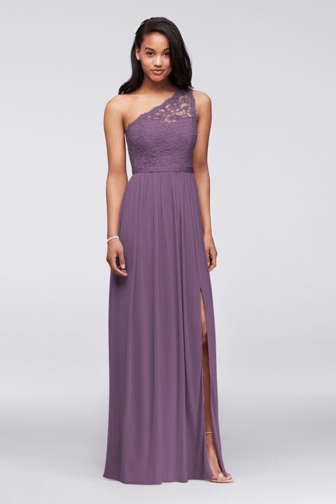 Encaje de Un Hombro Largo Dama De Honor Vestido Estilo F17063   eBay