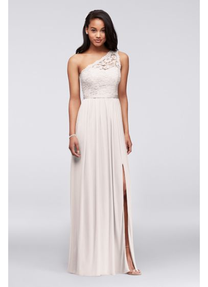 Long Yellow Soft & Flowy David's Bridal Bridesmaid Dress