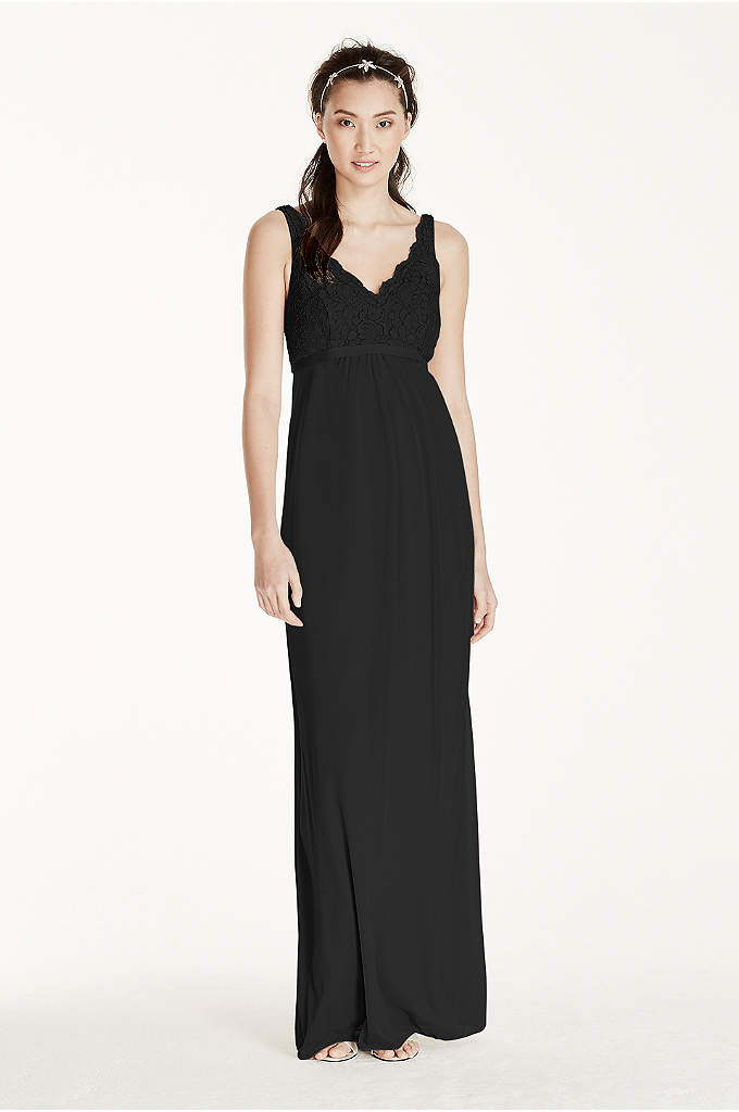 Maternity Sleeveless Long Corded Lace Mesh Dress - Style, sophistication and comfort make this long corded
