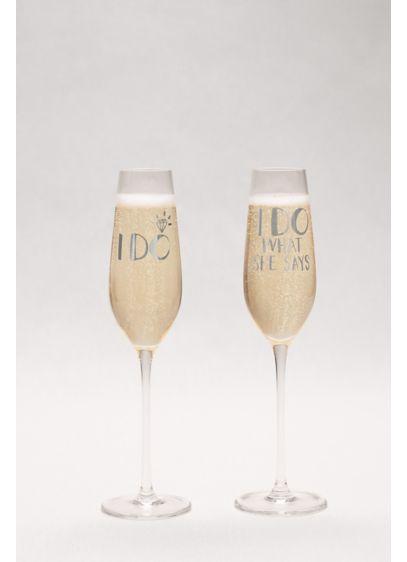 I Do Champagne Flute Gift Set