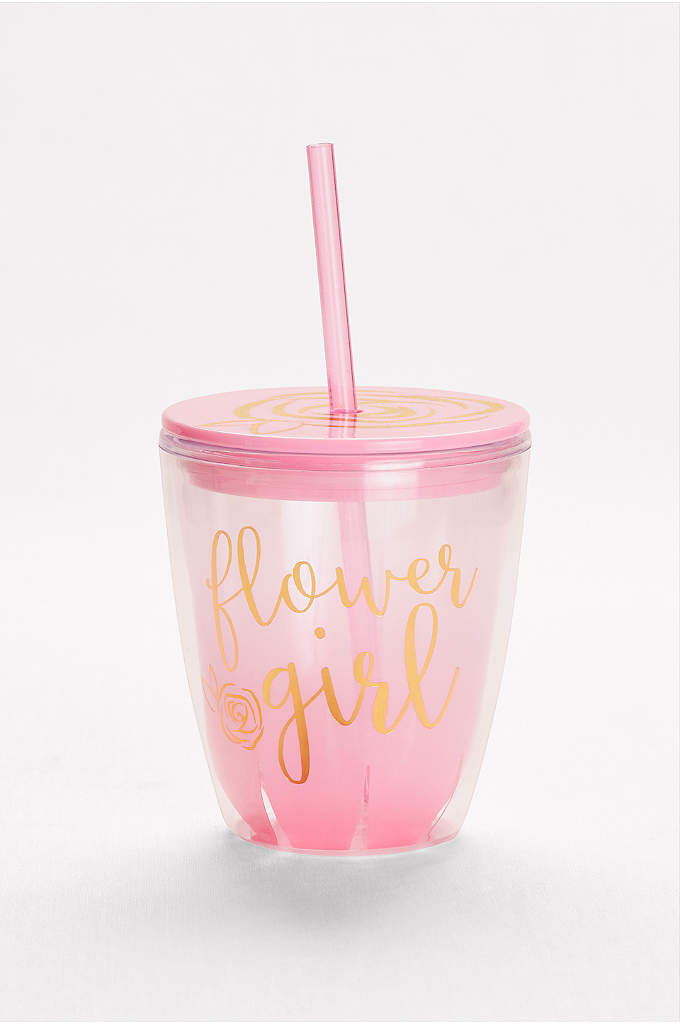 Flower Girl Insulated Tumbler - Make sure the flower girl's juice stays cold