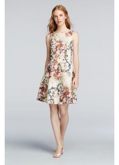 Short Multi Soft & Flowy David's Bridal Bridesmaid Dress