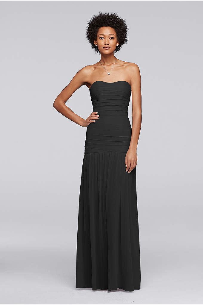 Long Fit and Flare Mesh Bridesmaid Dress - Looking for the perfect style to complement a