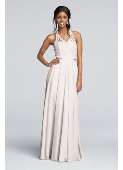 Long Red Soft & Flowy David's Bridal Bridesmaid Dress