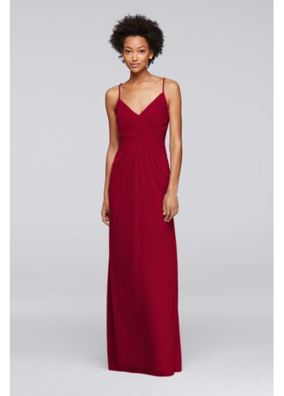 Adjustable Tie-Back Bridesmaid Dress F19249