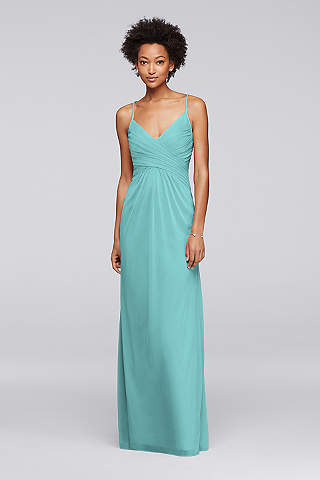 Long tiffany color dress