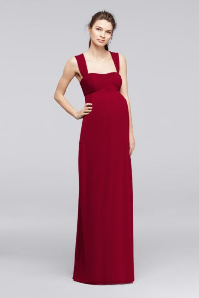 Empire Waist Maternity Dress with Straps | David's Bridal
