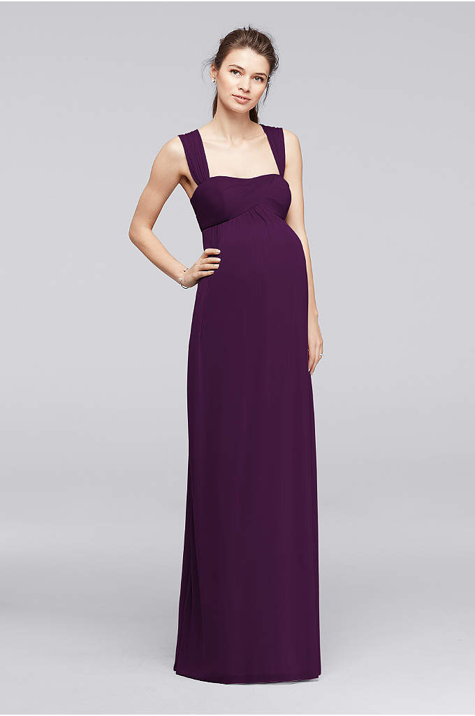 Empire Waist Maternity Dress with Straps - This maternity dress blends seamlessly with our other