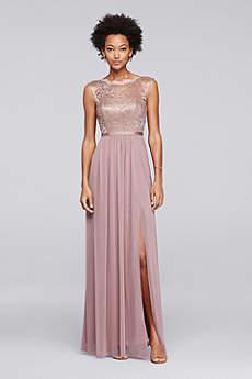 Rose gold bridesmaid dresses davids bridal soft flowy davids bridal long bridesmaid dress junglespirit Gallery