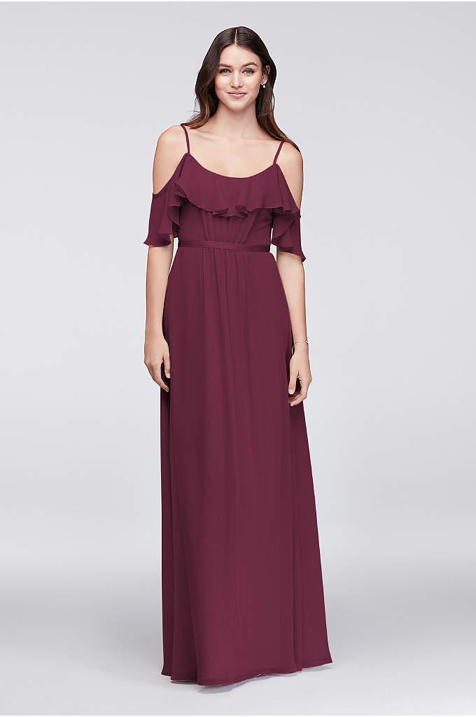 Cold-Shoulder Crinkle Chiffon Bridesmaid Dress - This crinkle chiffon bridesmaid deserves a special place