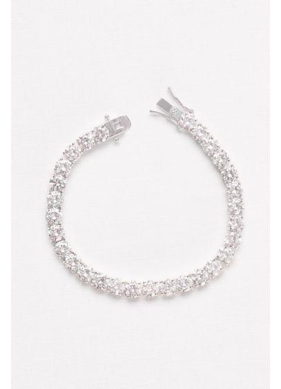 6MM Cubic Zirconia Solitaire Bracelet - Wedding Accessories