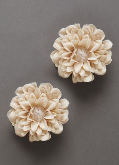 Small Fabric Flower Hair Clips F35375