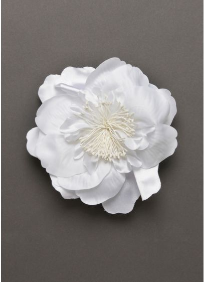 Bridal Fabric Flower Clip - Wedding Accessories
