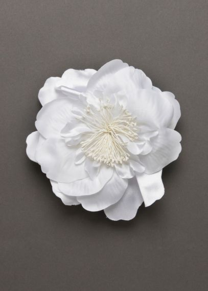Bridal Fabric Flower Clip F7977