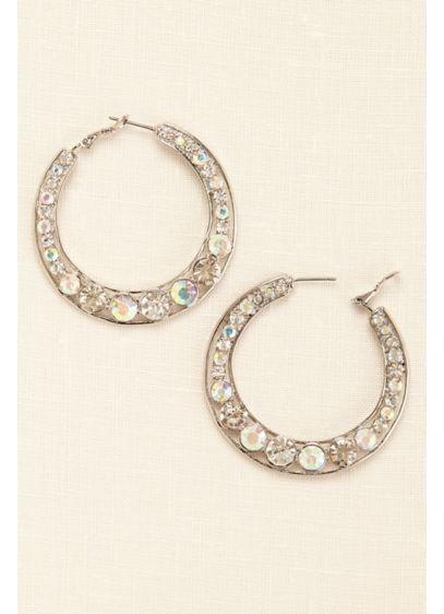 Graduated Hoop Earrings - Wedding Accessories