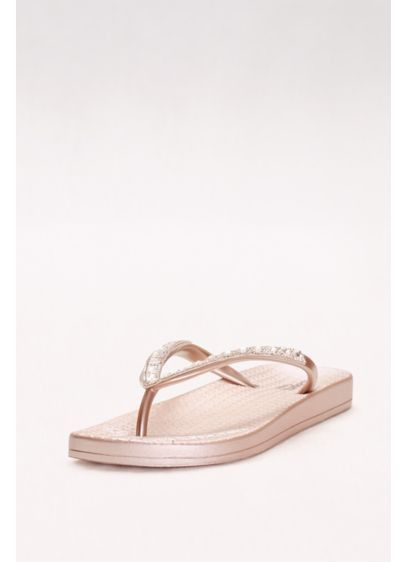 Capelli Pink (Molded Footbed Flip Flops with Bold Crystal Straps)