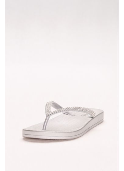 Grey (Flip Flops with Tiny Crystal Straps)