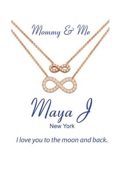 Mommy and Me Infinity Necklace Set FFSCZS16