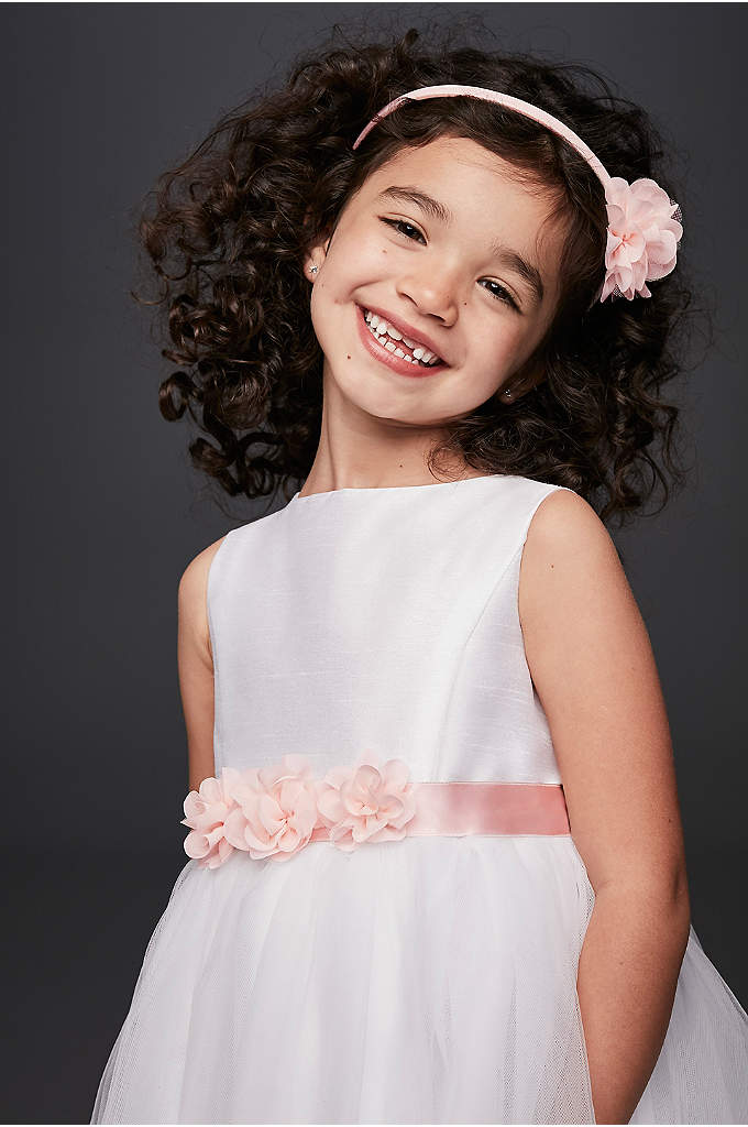 Mesh Blossom Flower Girl Headband - Add some extra petals to your flower girl's
